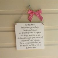 Wooden Square Plaque With Your Wording